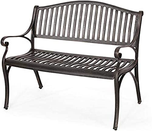 Christopher Knight Home Camille Outdoor Traditional Cast Aluminum Bench