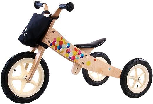 Triciclo Infantil Niña Chico Twist Cubic Transformable en Bicicleta sin Pedales Madera Coloreado: Amazon.es: Juguetes y juegos