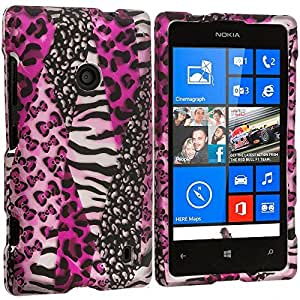 Accessory Planet(TM) Bowknot Zebra 2D Hard Snap-On Design Rubberized Case Cover Accessory for Nokia Lumia 520 by lolosakes