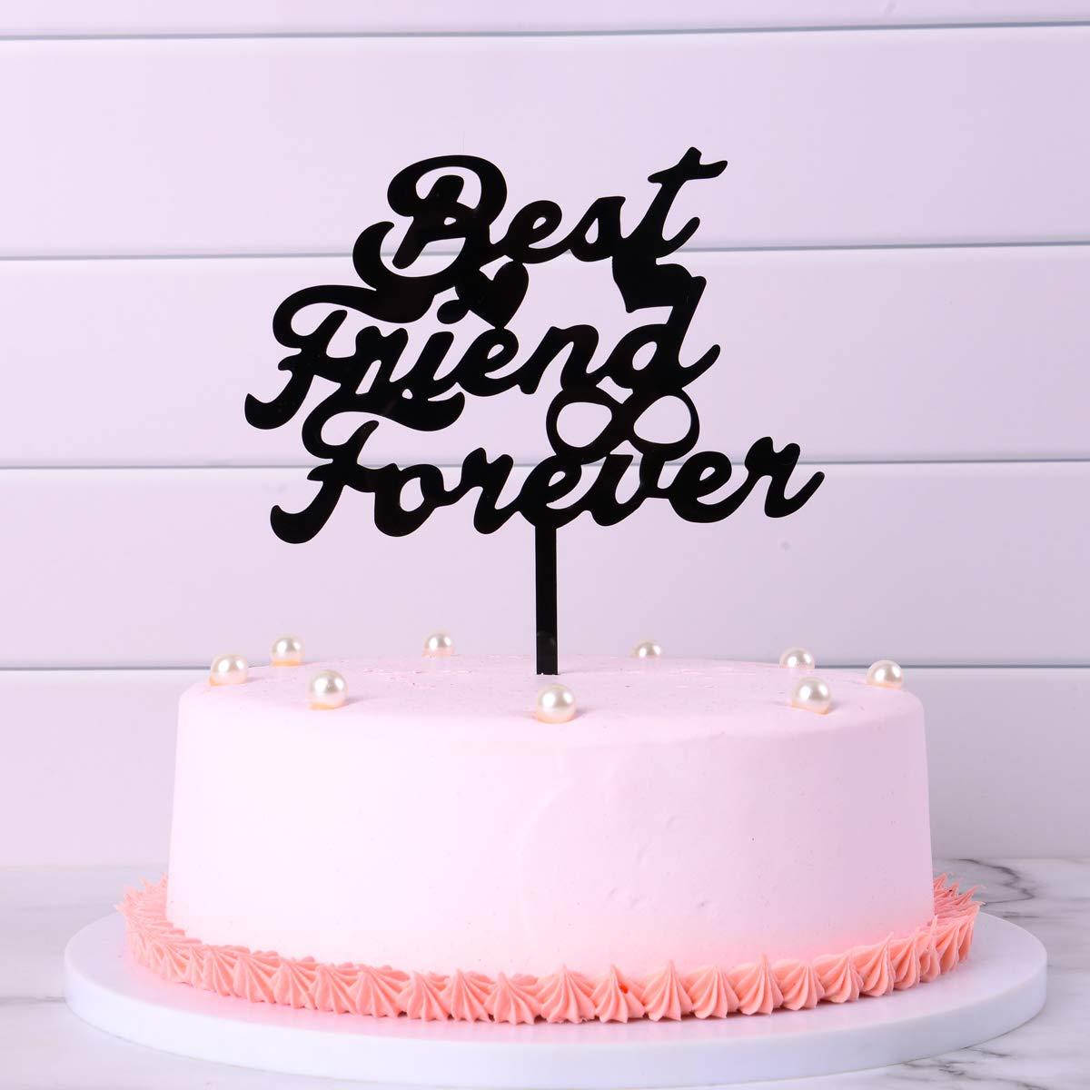 Happy Birthday Cake Topper Best Friend Forever Black Cake Topper For Friends Birthday Party Birthday Gift To Best Friends Boys And Girls Amazon Com Grocery Gourmet Food