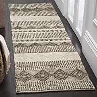 Safavieh Natura Collection NAT102A Hand-Woven Grey and Ivory Runner (23 x 6)
