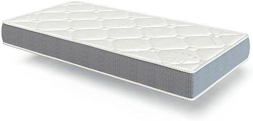 El Almacen del Colchon - Colchón espumación, Modelo Star, 90 x 180 x 15cm - Todas Las Medidas, Blanco y Gris