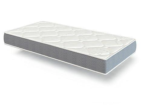 El Almacen del Colchon - Colchón espumación, Modelo Star Plus, 135 x 190 x 20cm - Todas Las Medidas, Blanco y Gris: Amazon.es: Hogar