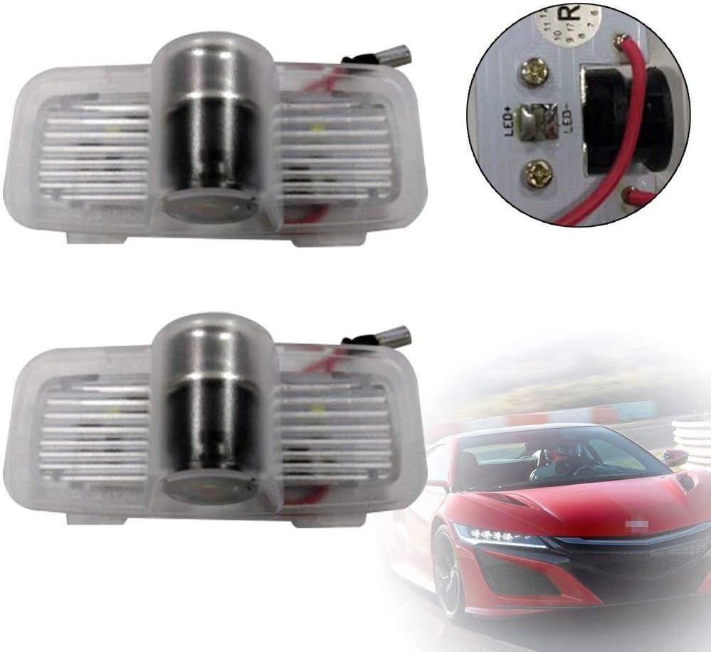 Car Door Logo Projector Step Light For Honda Pilot Crosstour Accord Coupe//Sedan 4pcs Ultra-Bright LED Courtesy Puddle Lights for Honda