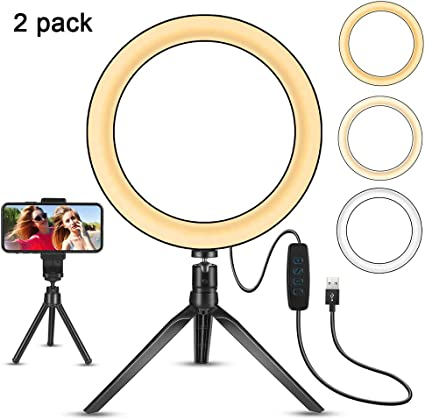 Phone Fill Light Fill Light with Tripod Mobile Phone Foldable Live Streaming Beauty Fill Light Lamp with Tripod and Phone Holder