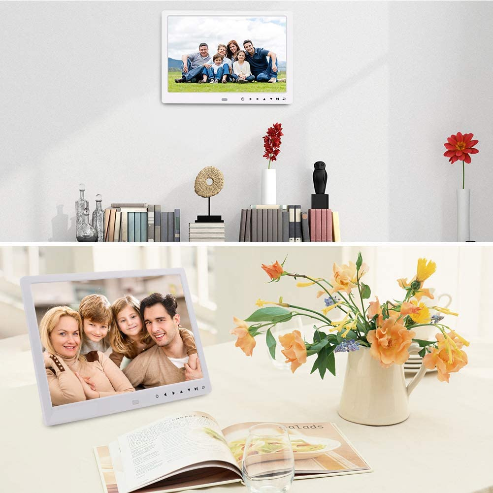 DishyKooker 12 Inch 1080P HD Digital Photo Frame with Remote Control Support 32G SD and USB for Pictures and Videos Black AU Plug Electronic Cell Phones Accessories for Travel//Work