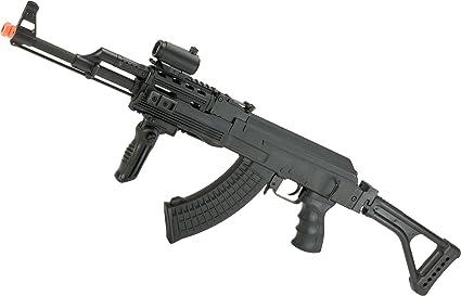 Evike - Matrix AK47 RIS Special Forces Airsoft AEG Rifle w/Skeleton  Side-Folding Stock by CYMA