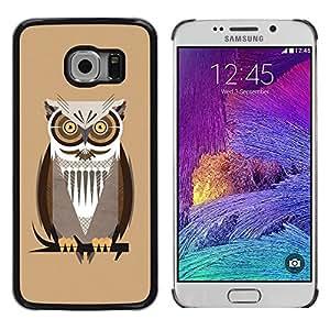 Shell-Star Arte & diseño plástico duro Fundas Cover Cubre Hard Case Cover para Samsung Galaxy S6 EDGE / SM-G925 / SM-G925A / SM-G925T / SM-G925F / SM-G925I ( The Professor Night Owl )