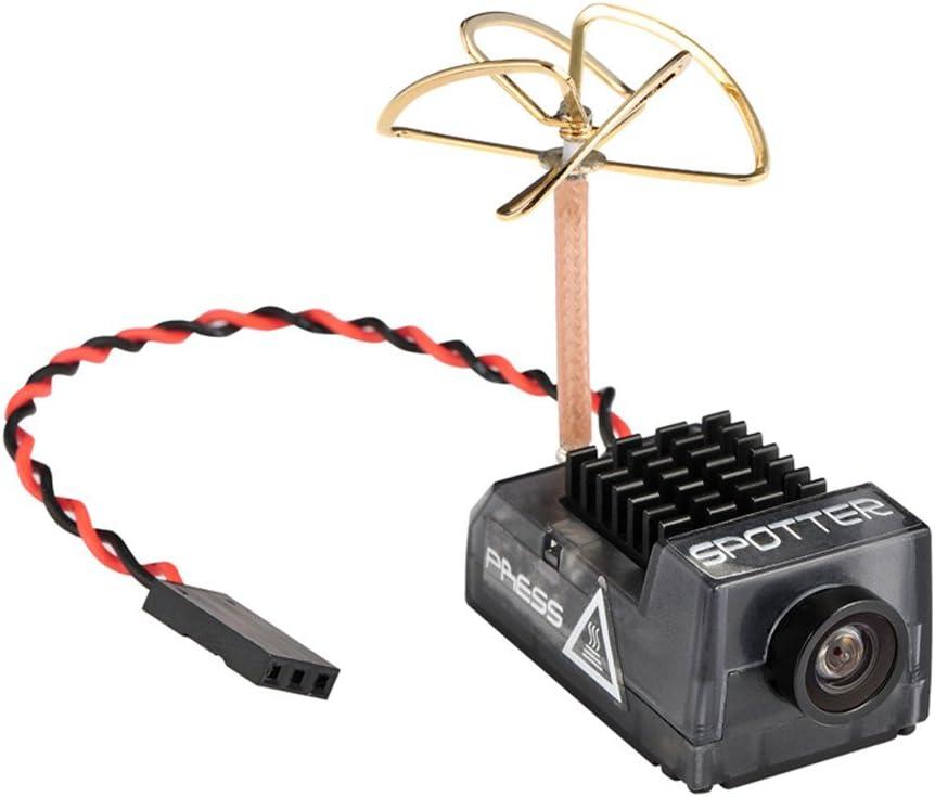 Crazepony Spotter V2 Micro FPV AIO Camera 5.8G with OSD Integrated Mic FOV170 Degree 700TVL Video Transmitter 40CH 20MW-200MW Adjustable VTX for Mini FPV RC Drone