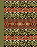 Journal: Tribal Pattern (Green) 8x10 - GRAPH JOURNAL - Journal with graph paper pages, square grid pattern (8x10 Patterns and Designs Graph Journal Series)