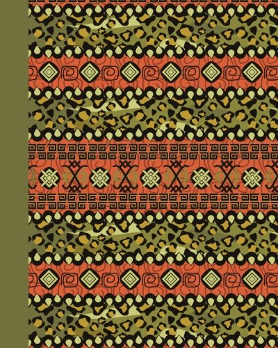 Journal: Tribal Pattern (Green) 8x10 - GRAPH JOURNAL - Journal with graph paper pages, square grid pattern (8x10 Patterns and Designs Graph Journal Series) by CreateSpace Independent Publishing Platform