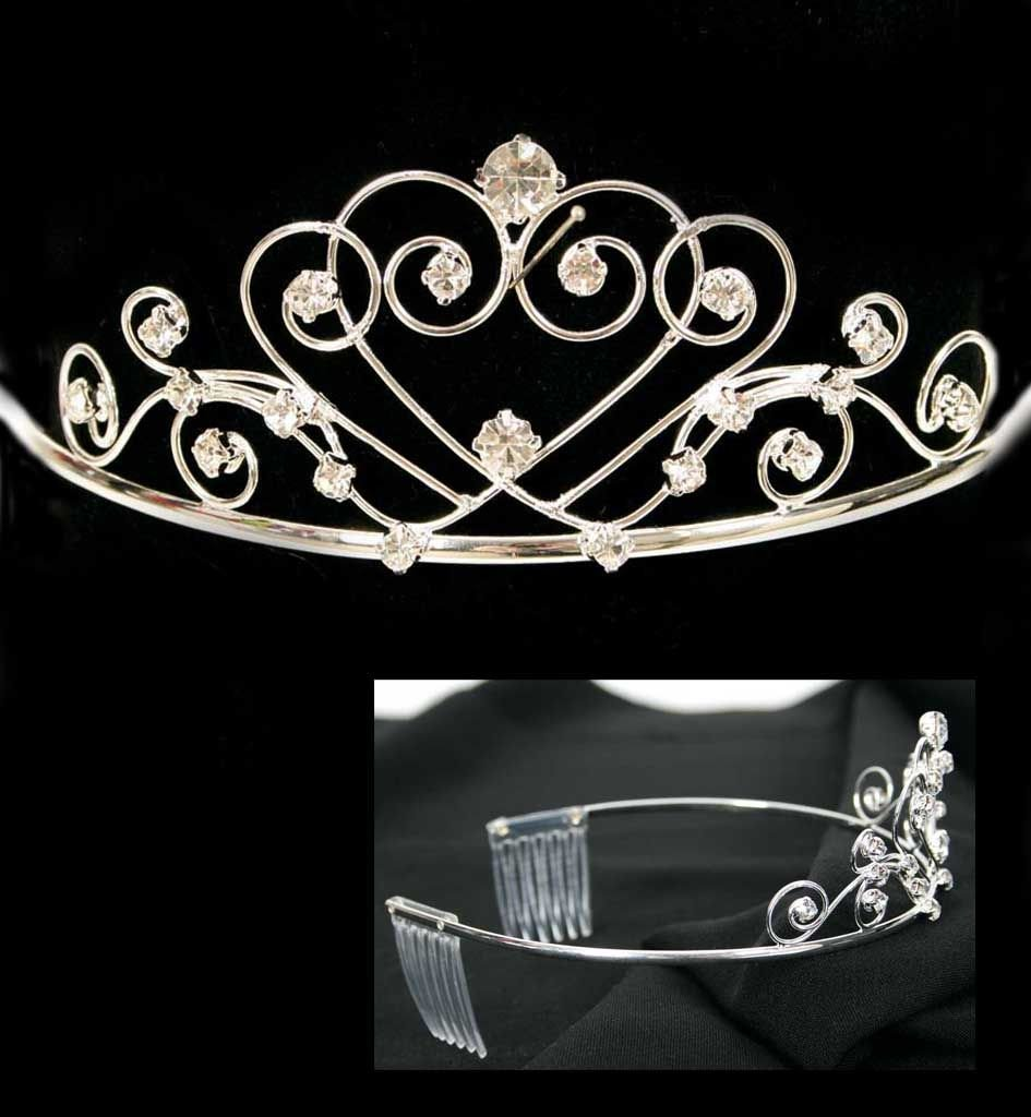 Fasching Karneval Diadem Silber Strass Prinzessin Krone Amazon De