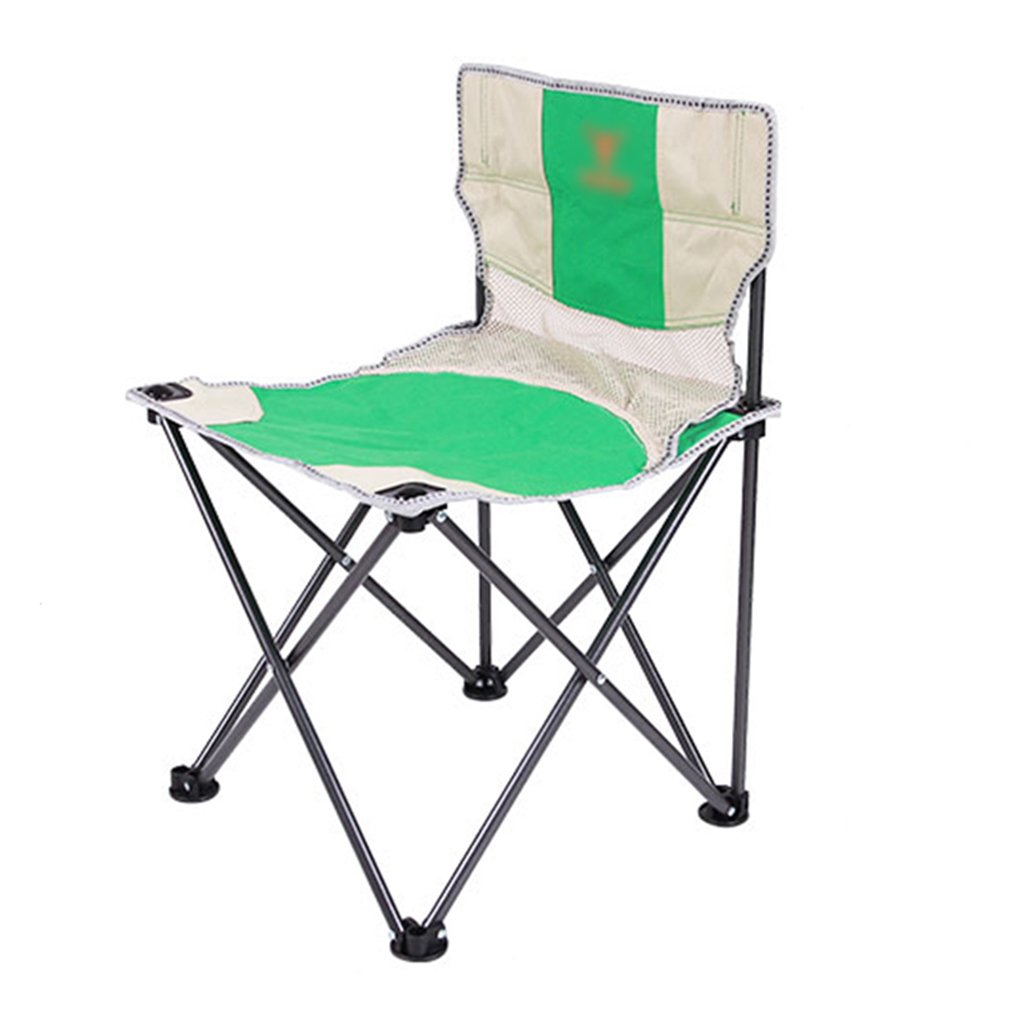 ZGL 旅行椅子 屋外折り畳みチェアポータブルビーチラウンジチェア折りたたみ釣り用スツール背もたれ椅子屋外椅子カラーオプション ( 色 : 緑 , サイズ さいず : Pack of 3 ) B07C7DM6D6 Pack of 3|緑 緑 Pack of 3
