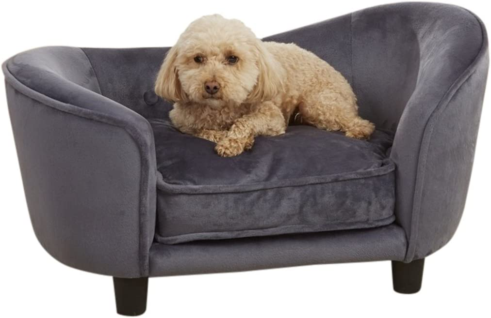 Enchanted Home Pet Ultra Plush Snuggle Pet Bed in Dark Grey : Pet Supplies