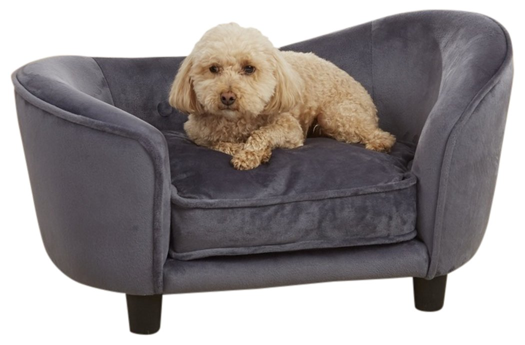 Enchanted Home Pet Ultra Plush Snuggle Pet Bed in Dark Grey by Enchanted Home Pet