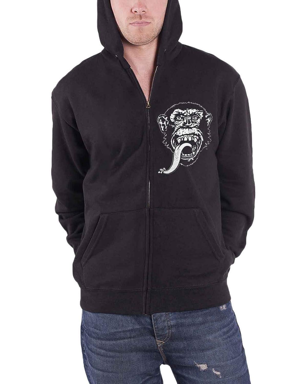 Gas Monkey Garage Zipped パーカー Dallas Texas Monkey Logo 公式 メンズ 新しい B01JH0GYLW  ブラック XL
