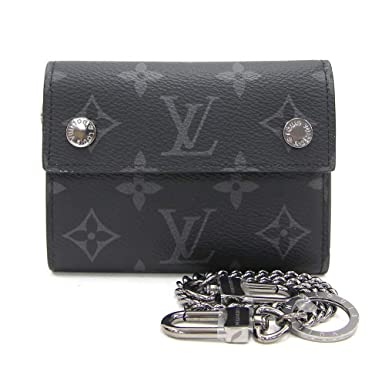 9d9001aabfee LOUIS VUITTON(ルイヴィトン) 三つ折り財布 モノグラムエクリプス チェーン コンパクトウォレット M63510 ウォレット