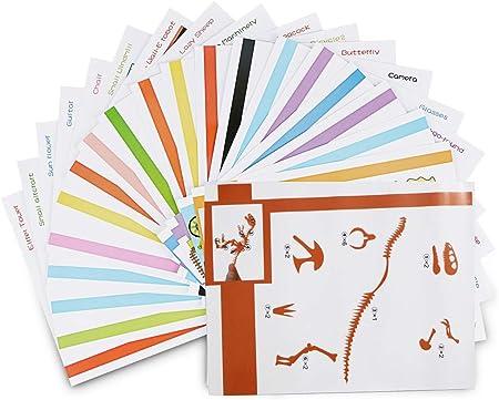 ohCome 20Pcs Modelos de papel 3D para Niños Adulto Juegos en ...