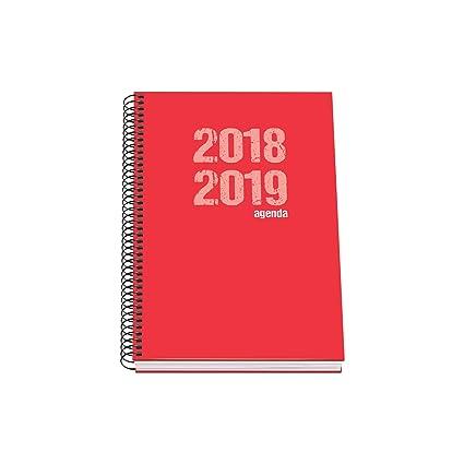 Dohe 10871 - Agenda escolar semana vista, color rojo: Amazon ...