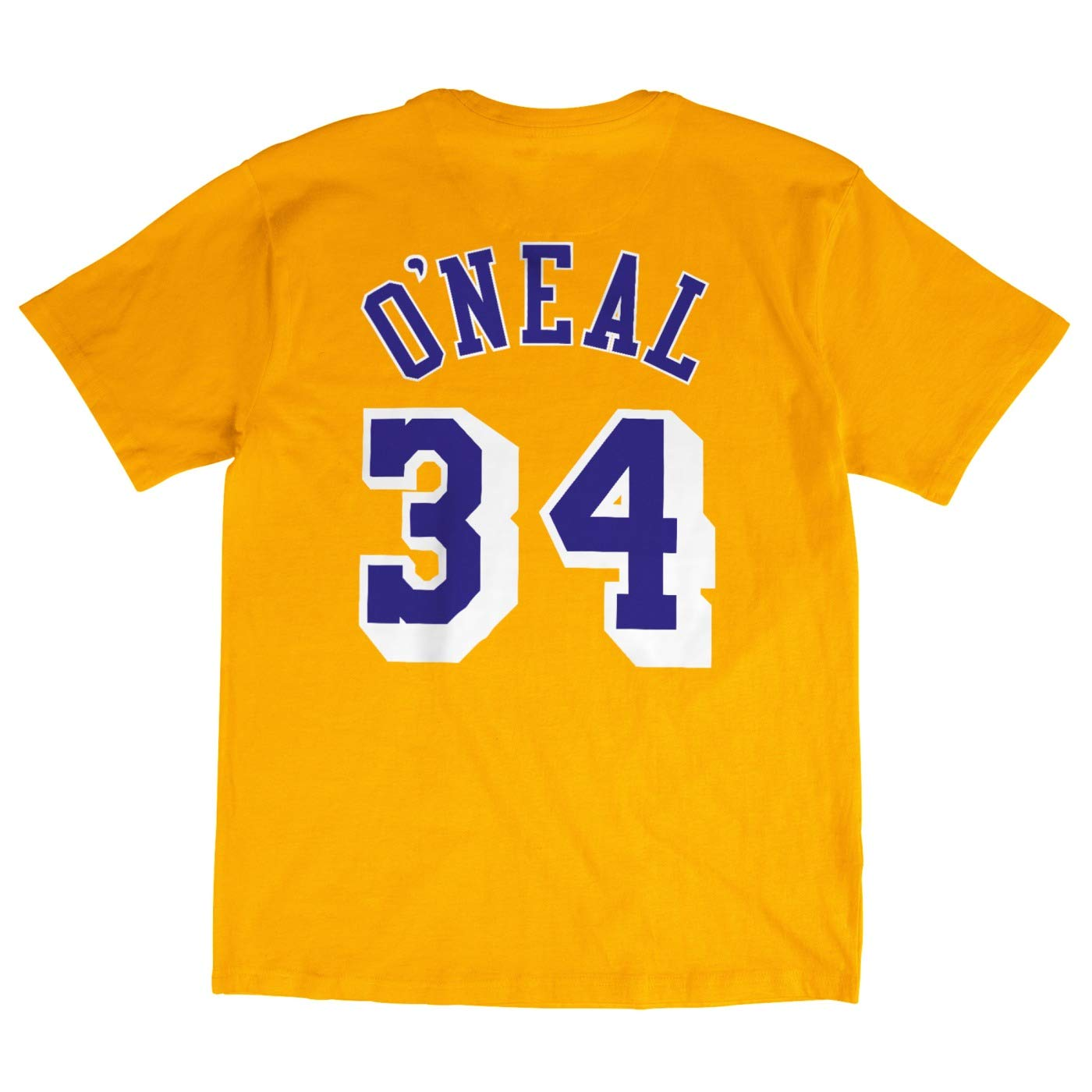 0fdd55aef Amazon.com   Mitchell   Ness Shaquille O Neal Los Angeles Lakers NBA Men s  Player T-Shirt   Sports   Outdoors