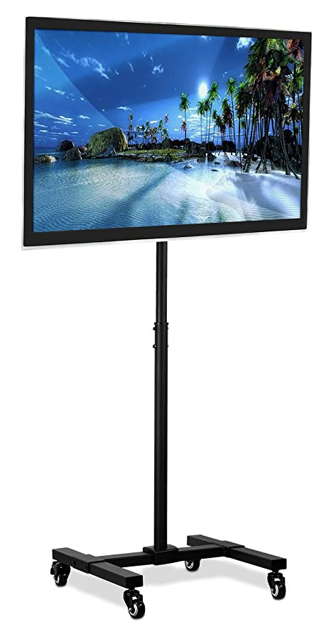 Mount It Tv Floor Stand Portable Tv Pedestal Display With Wheels