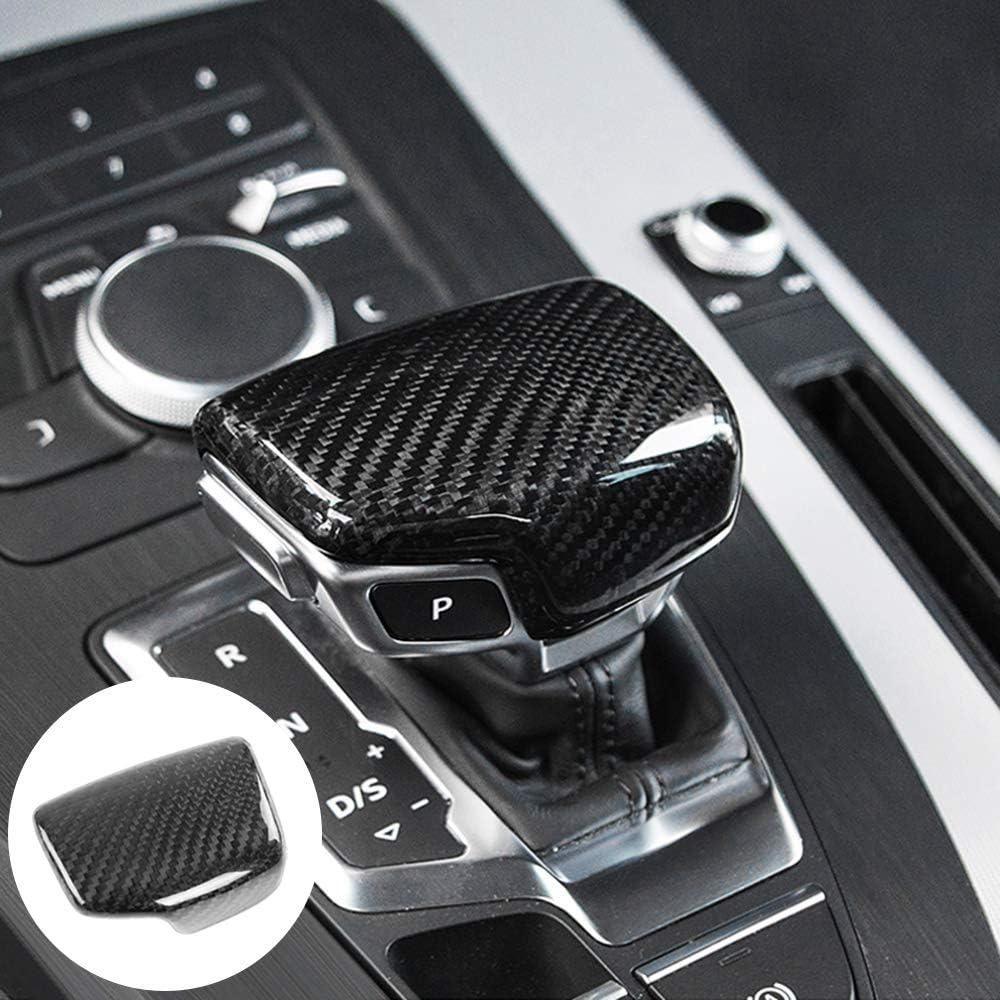 AIRSPEED Real Carbon Fiber Car Gear Shift Lever Knob Cover Sticker for Audi Q5L Q7 A5 A4L Accessories