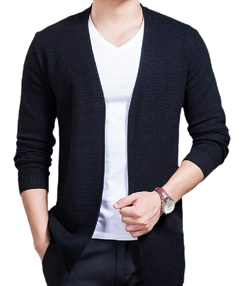 Comaba Mens Light Weight Stay Warm Cable Knitwear with Ribbing Edge