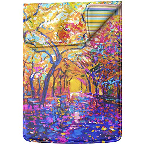 Lex Altern Laptop Sleeve Case for MacBook Air Mac Pro Retina Surface HP Dell ASUS Acer Lenovo 11 12 13 14 15 17 inch Colorful Painting Bright Artwork Nature Autumn - 17 Briefcase Premium