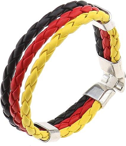 Create Idea Bracelet Fait Main Homme Femme Tresse Bracelets Pour Les Fans De Football Allemagne Drapeau Motif 20 5 X 1 3 Cm Amazon Fr Cuisine Maison