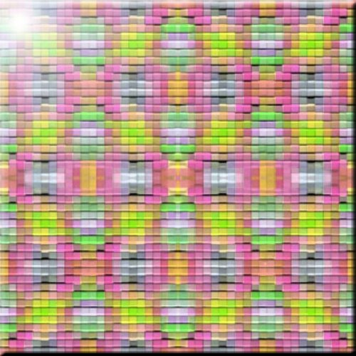 6 x 6 Rikki Knight Pink /& Green Mosaic Design Ceramic Art Tile