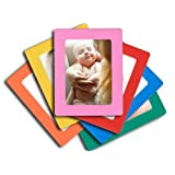 6 pack magnetic picture frames for refrigerator 4x6 inch 6 pack colorful photo note