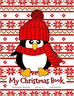 Ugly Christmas Sweaters Patterns.My Christmas Book Cute Christmas Penguin With An Ugly