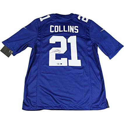 size 40 26788 90f04 Landon Collins Signed New York Giants Blue Replica Nike ...