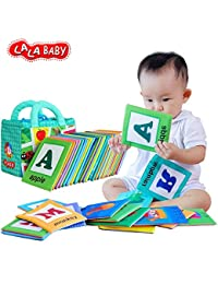LALABABY 26 Letters Cloth Card with Cloth bag Early Education Toy for Over 0 Years BOBEBE Online Baby Store From New York to Miami and Los Angeles