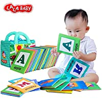 LALABABY 26 Letters Cloth Card with Cloth bag Early Education Toy for Over 0 ...