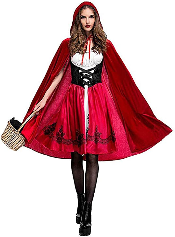 Little Red Riding Hood Costume for Women with Cape