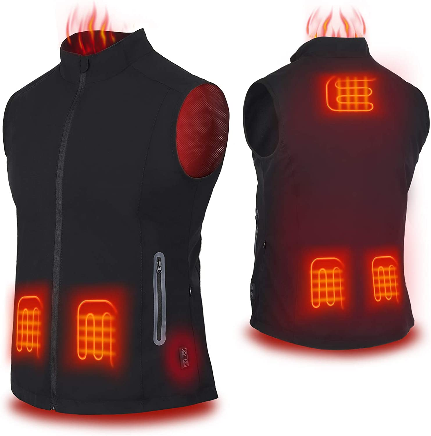 COZIHOMA Heated Vest USB Charging Dual Controls 2019 Upgrade Heating Vest Warm Clothing for Winter Skiing Hiking Motorcycle Travel Fishing Golf