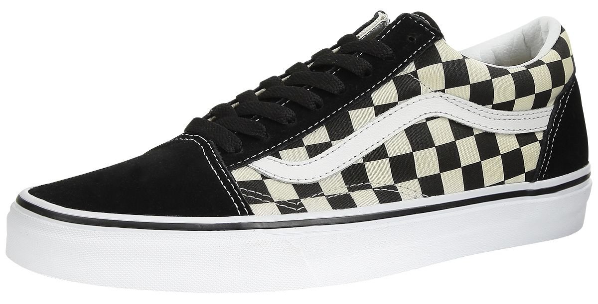 Vans Unisex Old Skool (Primary Check) Black/White VN0A38G1P0S Mens 10, Womens 11.5