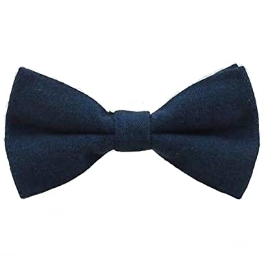 149f2ba6ccbb7 Children's Kids Boys Navy Blue Elasticated Cotton Bow Tie