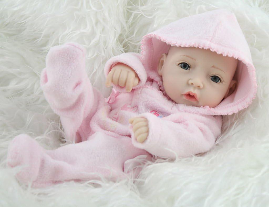 "11/"" Real Life Baby Doll Full Vinyl Silicone Doll Blue Twins Boy Girl Birthday US"