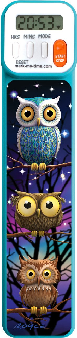 Mark-My-Time 3D Owls Digital Bookmark and Reading Timer