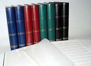 Leuchtturm Clasificador sellos 60 paginas, color rojo: Amazon.es: Juguetes y juegos