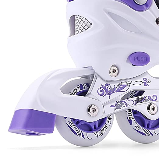 Amazon.com : Sunkini Kids Quad Skates Inline Skate Adjustable Roller Boots Skating Shoes with Light Best for Adult Children Boys Girls Beginners, ...