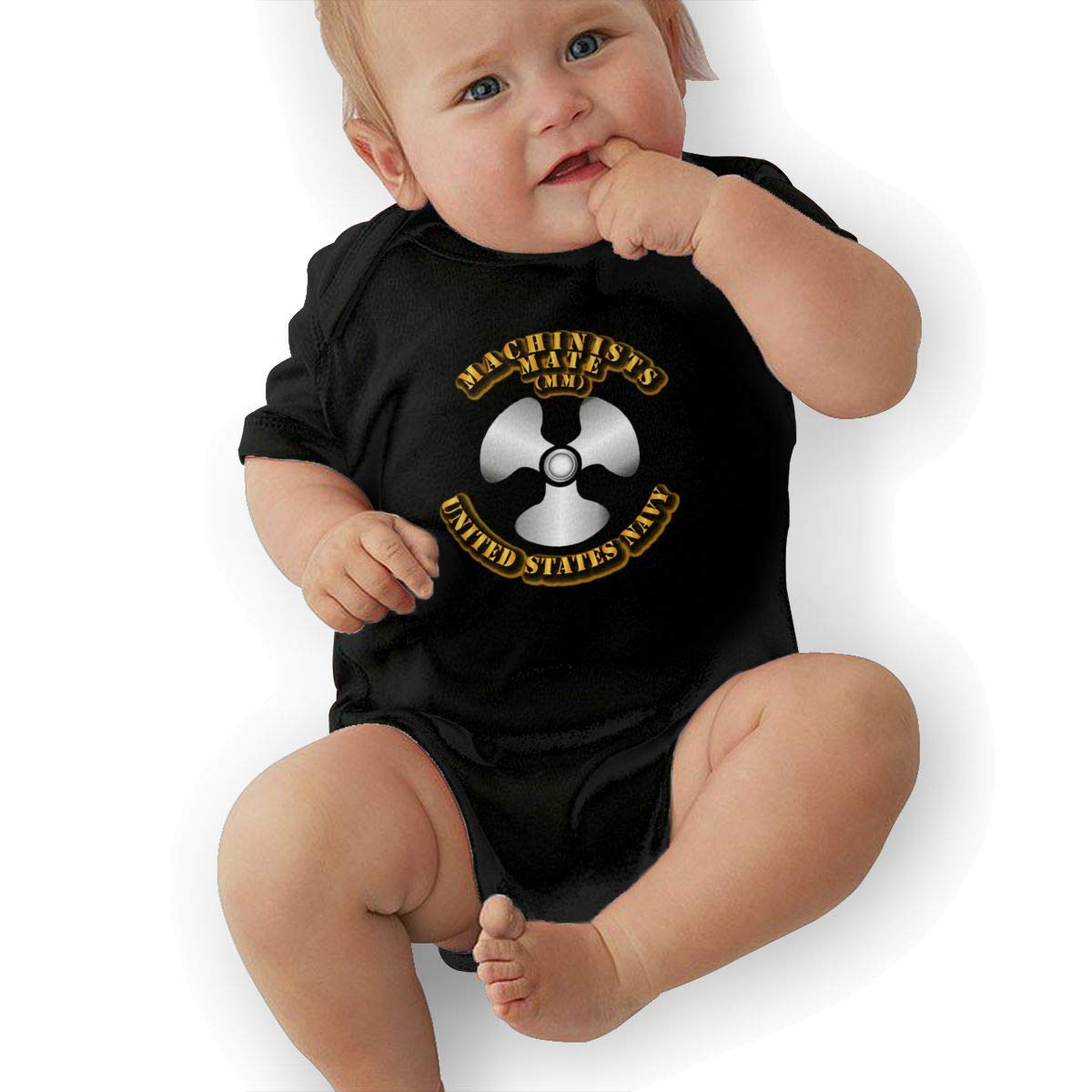 Navy Rate Machinists Mate Baby Pajamas Bodysuits Clothes Onesies Jumpsuits Outfits Black