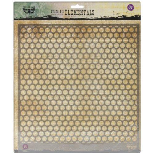 Prima Marketing PSTEN-60506 Elementals Stencil, 12 by 12-Inch, Honeycomb ()