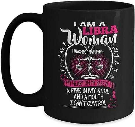Amazon Com Libra Woman Birthday Mug I Am A Libra Woman Pefect Birthday Gift Black Coffee Mugs Kitchen Dining