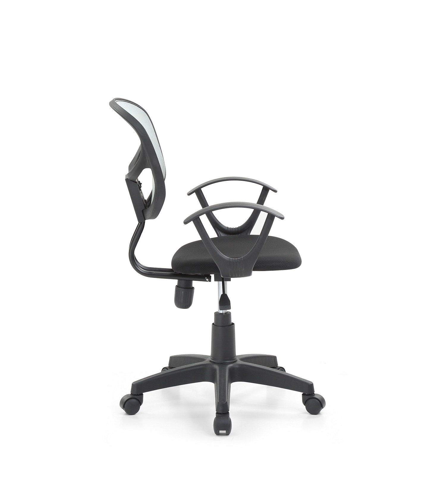 Hodedah Mesh Office Chair with Arms, Adjustable Height, and Swivel Functionality, Grey by HODEDAH IMPORT (Image #3)