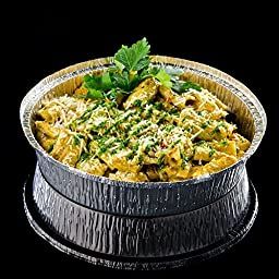 RESTAURANT QUALITY (Pack of 50) - 9 Inch Round Disposable Aluminum Foil Pans - Freezer And Oven Safe!