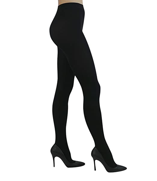 78fd7b548 YourTights Super Opaque Black Women s Tights 70 Denier Comfortable Light  Control Top Made in USA (