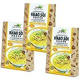 Organic Khao Soi paste Set of three coconut milk input sweet basil with organic JAS gluten-free vegan Halal [Parallel import]